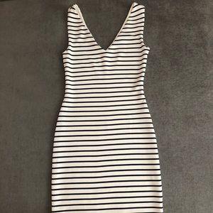 Lord & Taylor. Design Lab navy & white dress